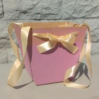 Коробка-трапеция пыльная роза, 19х22х14 см