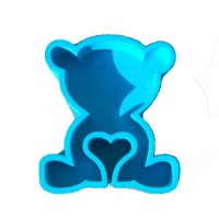 Мишка с сердцечком 30*20, голубой