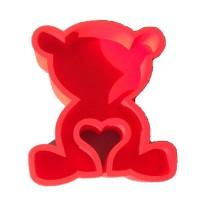 Мишка с сердцечком 30*20, красный