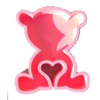 Мишка с сердцечком 30*20, розовый