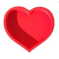 Сердце 45*30, красное