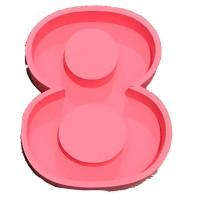 Восьмёрка 30*20, розовая