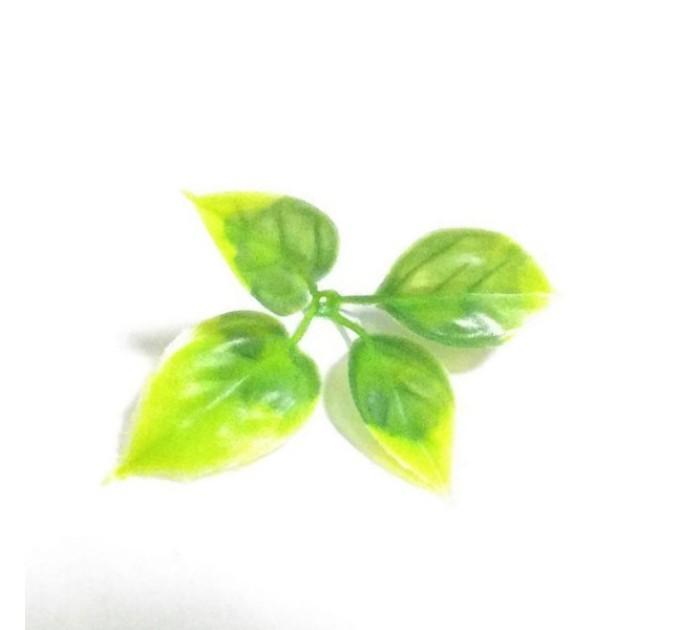 Лист розы 4 листа, пластик