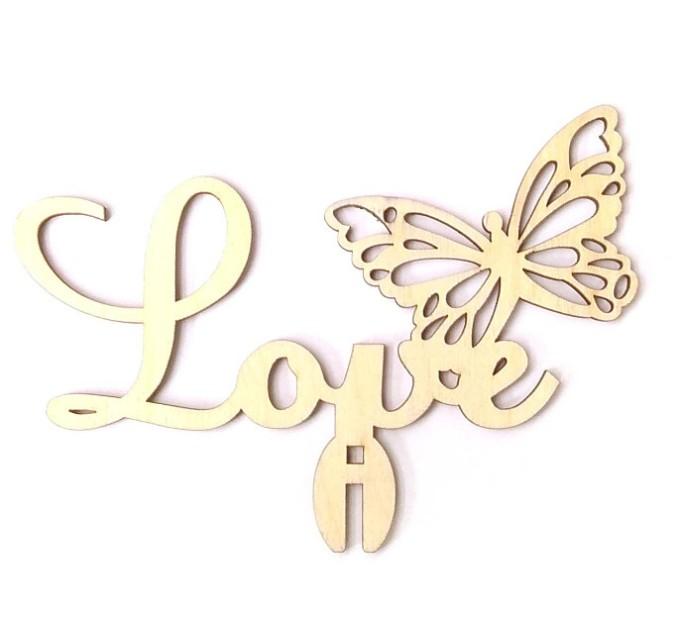 Love с бабочкой, топпер