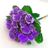 Роза букет, фиолетовый (упаковка 5 шт)
