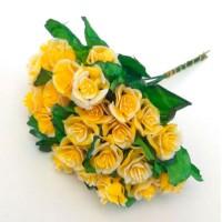 Роза букет, жёлтый (упаковка 5 шт)