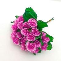 Роза букет, малиновый (упаковка 5 шт)