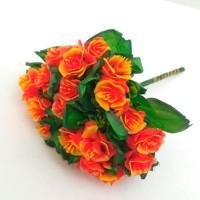 Роза букет, оранжевый (упаковка 5 шт)