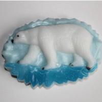 Белый медведь пластиковая форма