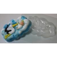 Аист с младенцем пластиковая форма