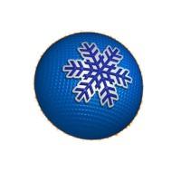 Шар Снежинка-3, пластиковая форма