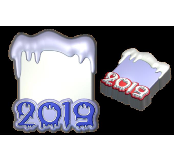 2019 под картинку, пластиковая форма