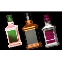 Бутылка под картинку, пластиковая форма
