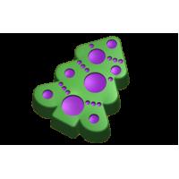 Елка украшенная-3, пластиковая форма