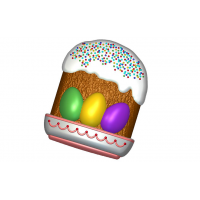 Кулич с яйцами, пластиковая форма