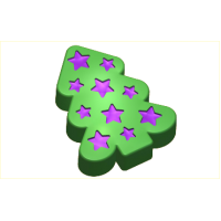 Елка и звездочки, пластиковая форма