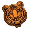 Тигр гравюра, пластиковая форма