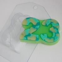 23 Февраля/Плоское  пластиковая форма