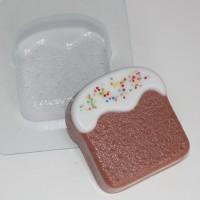 Кулич плоский, пластиковая форма