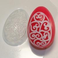 Яйцо/орнамент сердечки завитушки, пластиковая форма