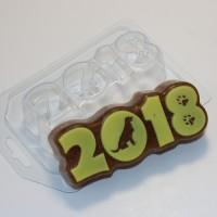 2018/Силуэт собаки, пластиковая форма