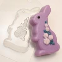 Кролик/розы, пластиковая форма