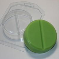 Таблетка круглая, пластиковая форма