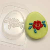 Яйцо плоское/Крупный цветок, пластиковая форма