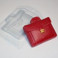 Портфель кожаный, пластиковая форма