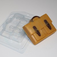 Портфель с двумя карманами, пластиковая форма