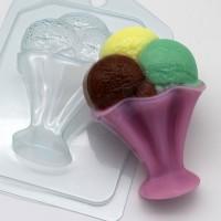 Мороженое/Шарики в креманке, пластиковая форма