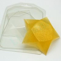 Звезда граненая, пластиковая форма