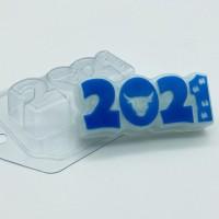 2021/ бык и следы, пластиковая форма