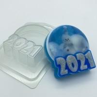 2021/круг под водорастворимку, пластиковая форма