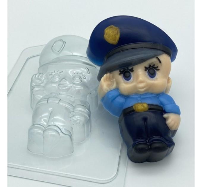 Малыш/полицейский, пластиковая форма