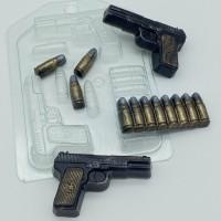Пистолет ТТ мини, пластиковая форма