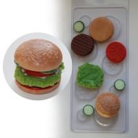 Бургер пластиковая форма