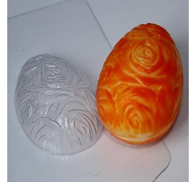 Яйцо-фактура роз, пластиковая форма