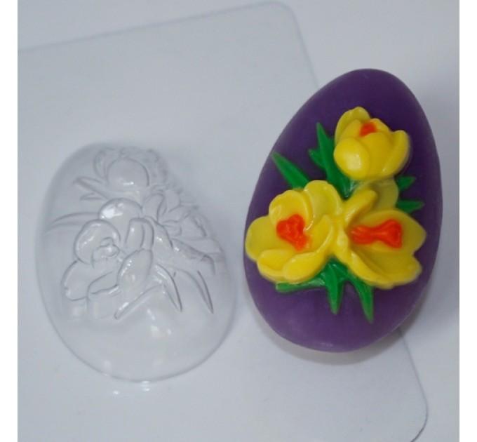 Яйцо-крокусы, пластиковая форма