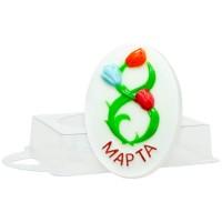 8 марта-букет пластиковая форма