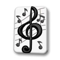 Скрипичный ключ пластиковая форма