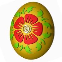 Яйцо-хохлома пластиковая форма