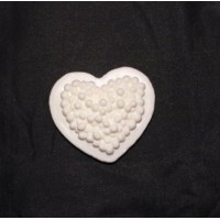 Силиконовая форма Бутерброд-сердце с красной икрой, 35 гр