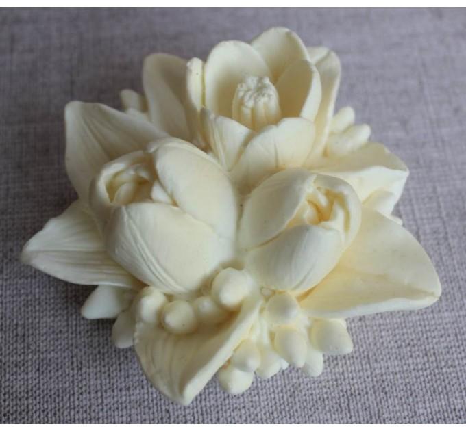 Силиконовая форма Букет из трех тюльпанов, 120 гр