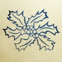 Пуансетия, силиконовый штамп