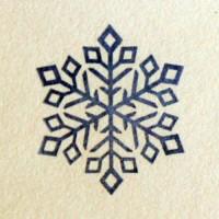 Снежинка № 4, силиконовый штамп