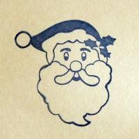 Дед Мороз, силиконовый штамп