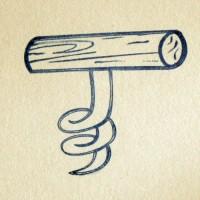 Штопор, силиконовый штамп