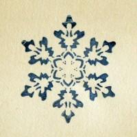 Снежинка № 2, силиконовый штамп