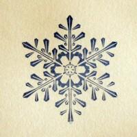 Снежинка № 5, силиконовый штамп